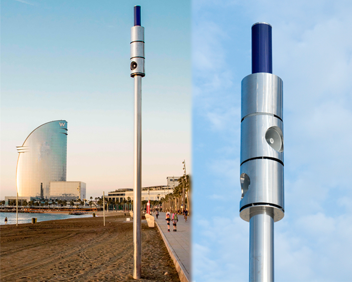 ADTEL completes the deployment of the AirVoice Icaria system in the beach of Barcelona.