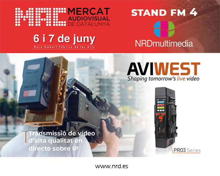 NRDmultimedia is an exhibitor at the Mercat Audiovisual de Catalunya 2018
