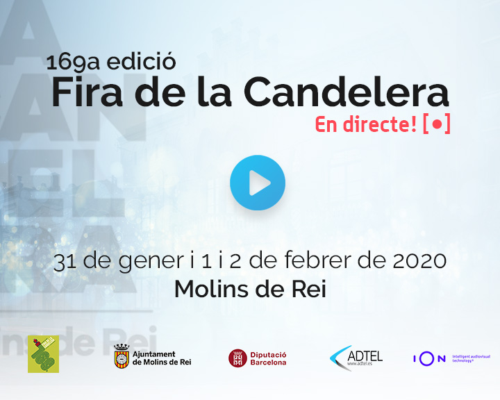 "ADTEL collaborates with the ""Fira de la Candelera"""