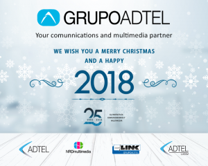 GRUPOADTEL wishes you a Merry Christmas and a Happy new year 2018