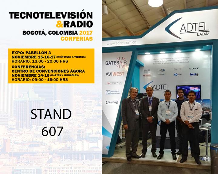 ADTEL Latam participates in the international fair TECNOTELEVISIÓN & RADIO 2017