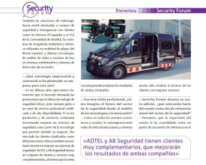 Grupo ADTEL talks about the union with AB Seguridad during the Security Forum